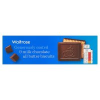 Waitrose continental milk chocolate butter biscuits