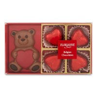 Florianne Chocolate Bear & Hearts