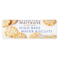 essential Waitrose high bake water biscuits