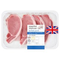 essential Waitrose 4 British Outdoor Bred pork loin steaks