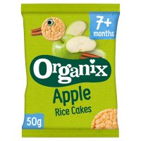 Organix organic apple rice cakes - stage 2
