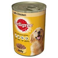 Pedigree in jelly chicken