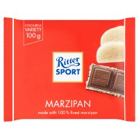 Ritter Sport plain chocolate marzipan filling