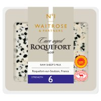 Waitrose cave-aged Roquefort cheese, strength 6