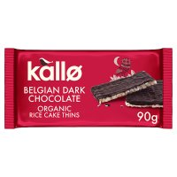 Kallo dark chocolate organic rice cake thins