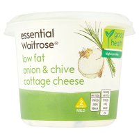 essential Waitrose onion chive cottage cheese 1.4% fat