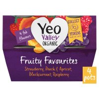 Yeo Valley 4 organic fruity favourites yogurts