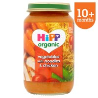 Hipp organic vegetables with noodles & chicken - stage 3