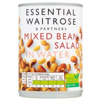 essential Waitrose canned mixed bean salad in water