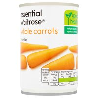 essential Waitrose canned whole carrots in water