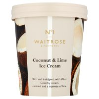 Waitrose 1 Malaysian coconut and lime ice cream