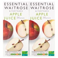 essential Waitrose pure apple juice, 4 pack