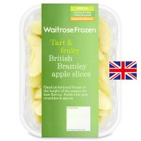 Waitrose frozen British Bramley apple slices