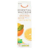 essential Waitrose orange juice with bits