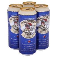 Hobgoblin strong dark ale cans