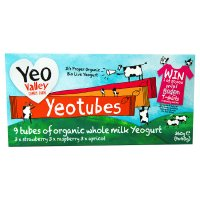 Yeo Valley organic real fruit yogurt tubes