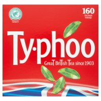 Typhoo 160 foil fresh tea bags