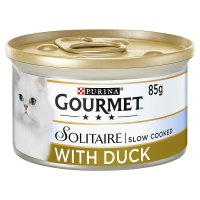 Gourmet solitaire with duck & garden vegetables