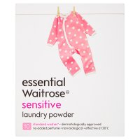 essential Waitrose sensitive washing powder 10 washes
