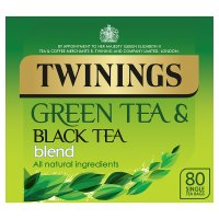 Twinings green and black tea blend 80 tea bags
