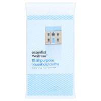 essential Waitrose all purpose cloths, pack of 10