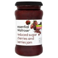 Waitrose reduced sugar cherries & berries jam