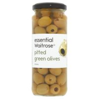 Waitrose, pitted green olives in brine