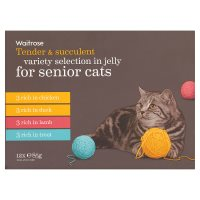 Waitrose special recipe senior selection cat food, 12 x 100g pouches