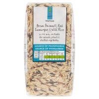 Waitrose LOVE life brown basmati, red camargue & wild rice image