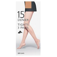 John Lewis Natural Tights - 15 Denier - Large