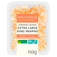 Waitrose freshly cooked and peeled king prawns