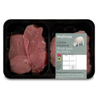 Waitrose 4 Welsh lamb extra trimmed leg steaks