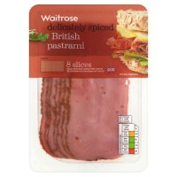 Waitrose British pastrami, 8 slices