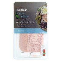 Waitrose German sausage selection, 36 slices