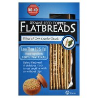 No-No flatbreads sesame topped less than 10% fat