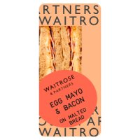 Waitrose egg mayonnaise & bacon sandwich