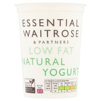 essential Waitrose low fat natural yogurt