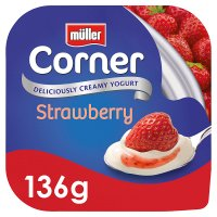 Müller Fruit Corner yogurt with strawberry