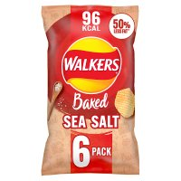 Walkers Baked ready salted plain multipack crisps