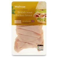 Waitrose British finely sliced chicken breast