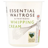 essential Waitrose whipping cream image