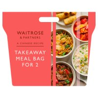Chinese takeaway meal bag for 2