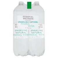 essential Waitrose water sparkling natural mineral