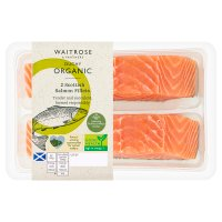 Waitrose Duchy Organic Originals 2 Scottish salmon fillets