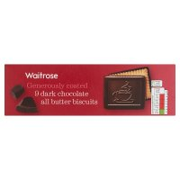 Waitrose continental dark chocolate butter biscuits