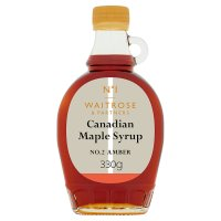 Waitrose 1 canadian maple syrup - amber No. 2