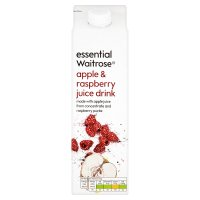 essential Waitrose apple and raspberry juice drink