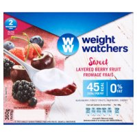 Weight Watchers layered berry fruits fromage frais