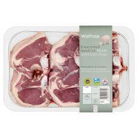 Waitrose 6 Welsh lamb hand cut loin chops
