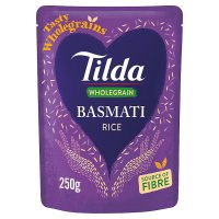 Tilda steamed brown basmati rice